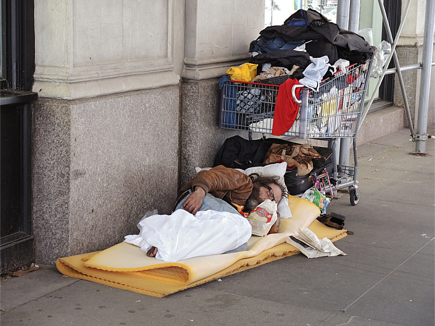 Midtown Homeless Person (Manhattan, 2014)