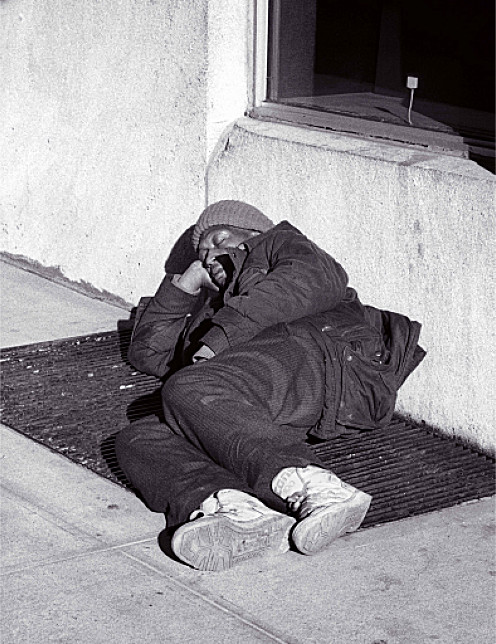 Upper East Side Homeless Person (Manhattan, 1990)